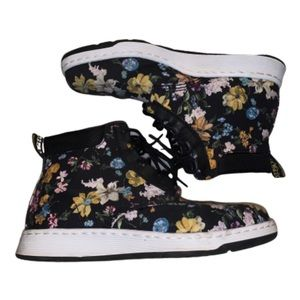 Dr Martens Canvas Boot Floral Print Sneakers